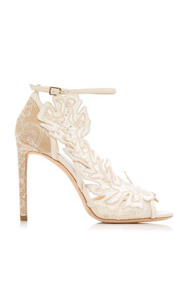 Lucele Lace Embellished Sandal