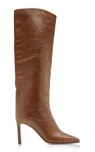 Mahesa Leather Tall Boots