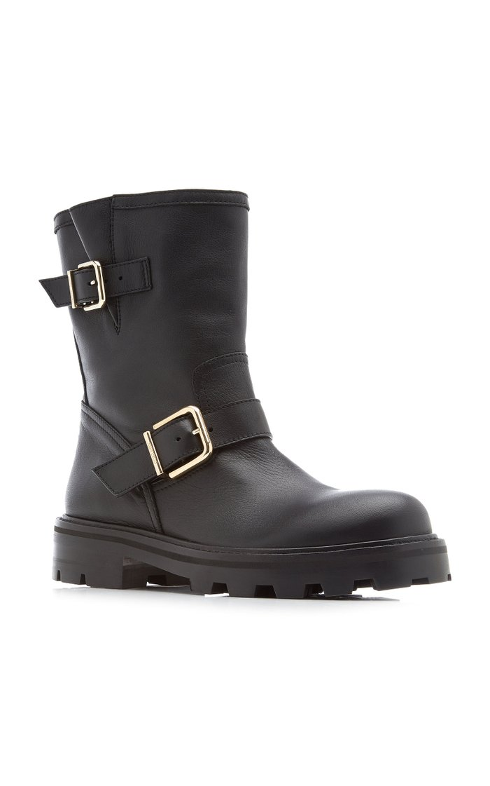Youth II Buckle-Detailed Leather Boots
