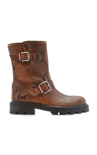 Youth II Snake-Effect Leather Boots