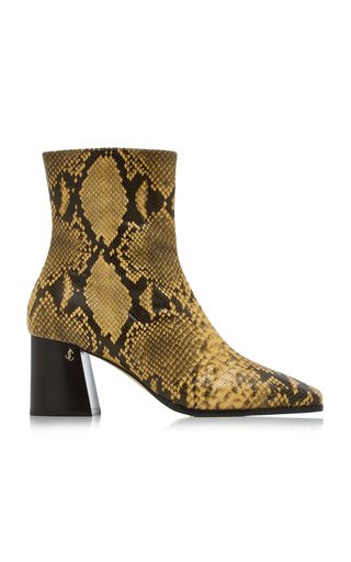 Bryelle Snake-Effect Leather Boots