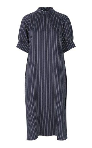 Ambrosia Pinstriped Cady Dress