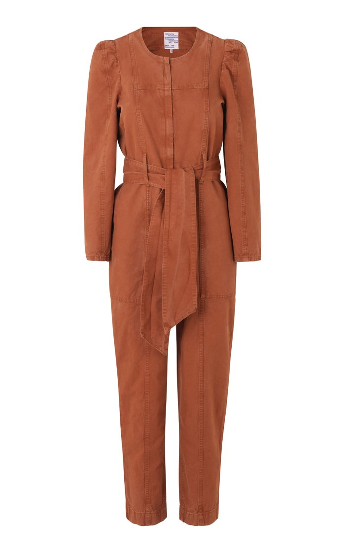 Noralee Cotton-Linen Belted Jumpsuit