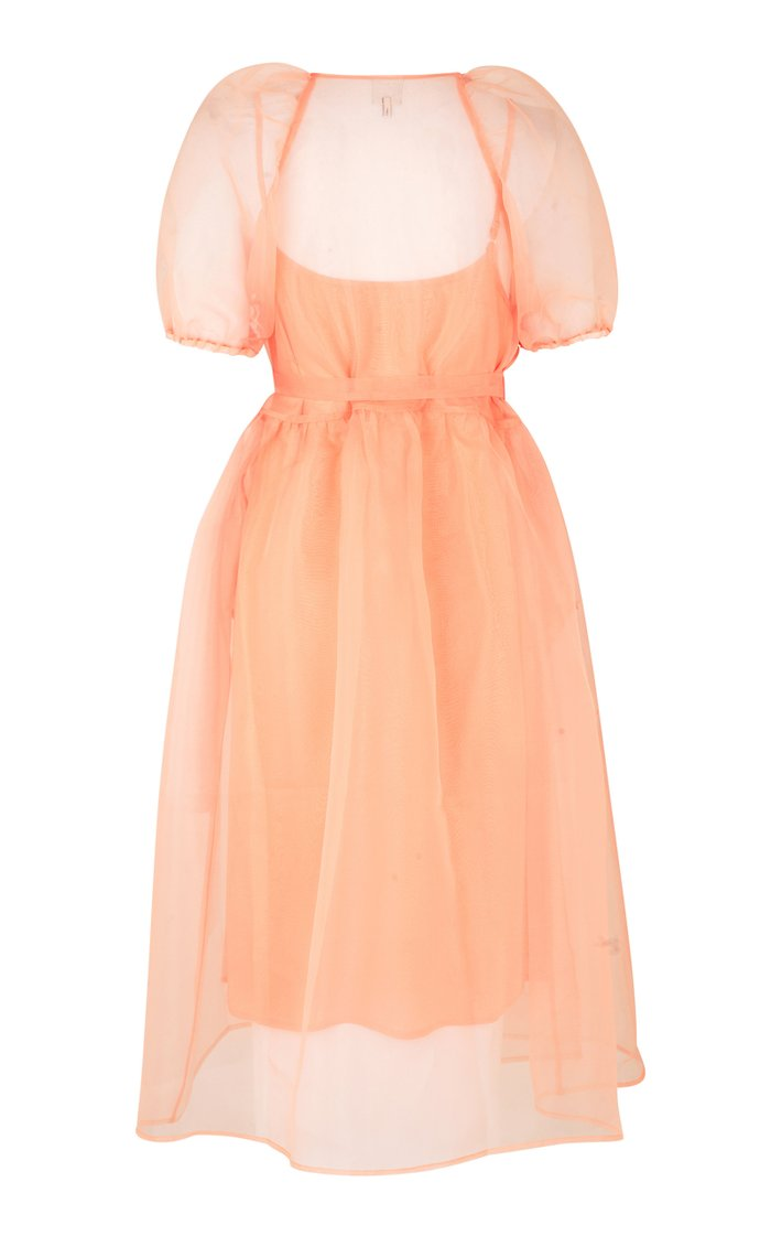 Adalaine Sheer Chiffon Dress