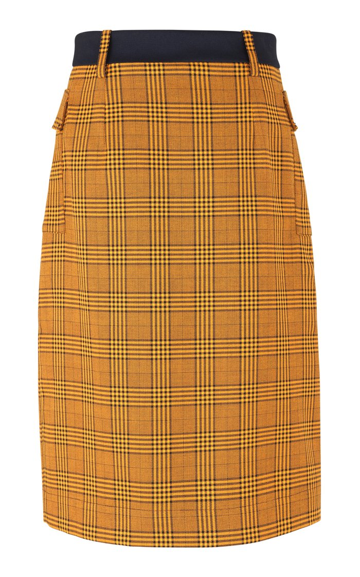 Salvianne Two-Tone Cady Skirt