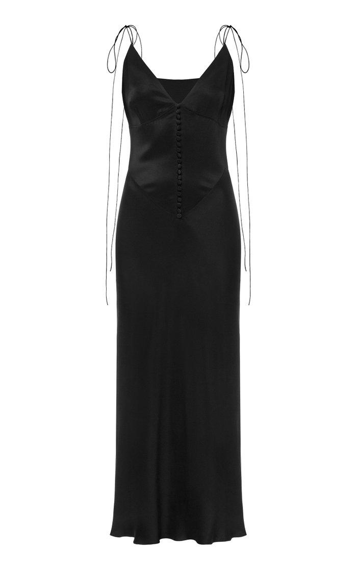 Spetses Satin Slip Dress