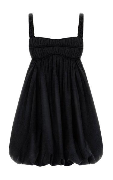 Kiki Ruffled Crepe Mini Dress
