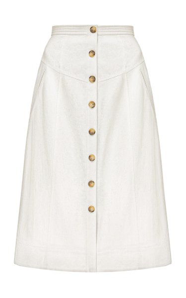 Nadenka High-Rise Cotton Skirt
