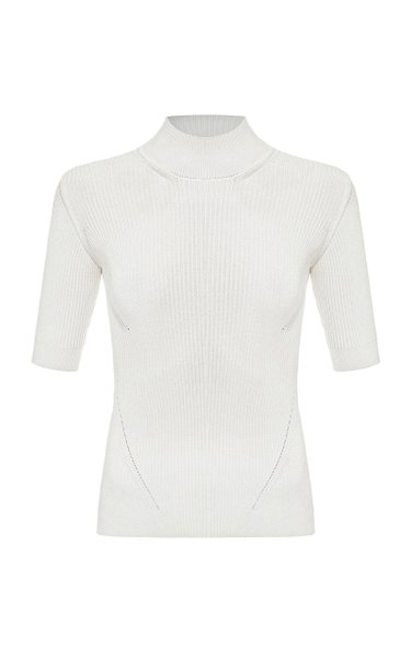 Yves Ribbed-Knit Top