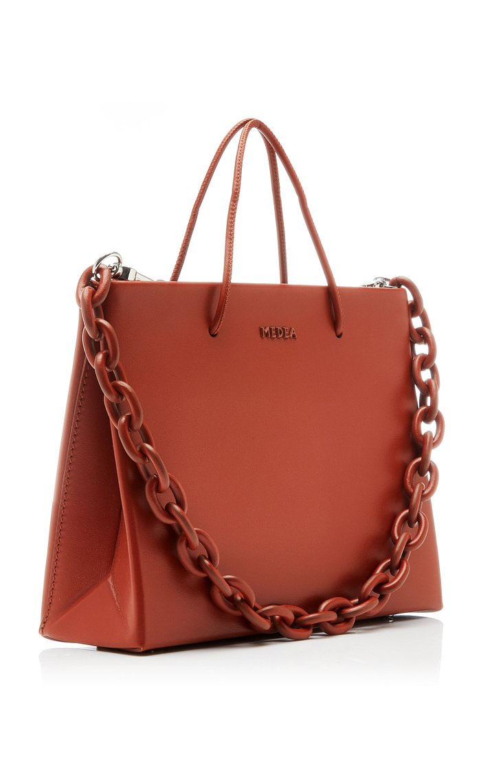 Hanna Chain-Detailed Leather Top-Handle Bag