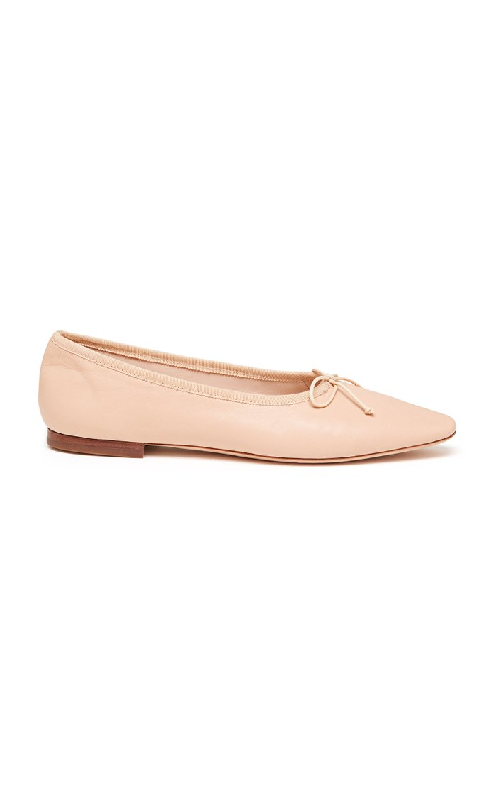 Georgie Leather Flats