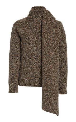 Mia Wool Scarf-Neck Sweater