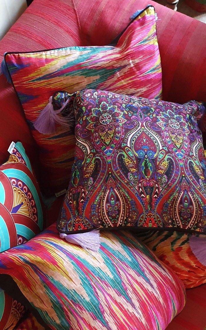 Paisley Silk Cushion