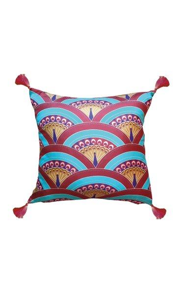 Peacock Silk Cushion
