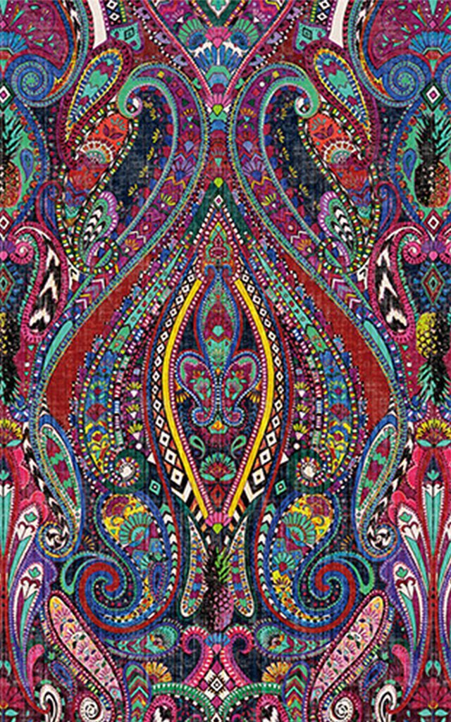 Paisley Design Printed Tablecloth