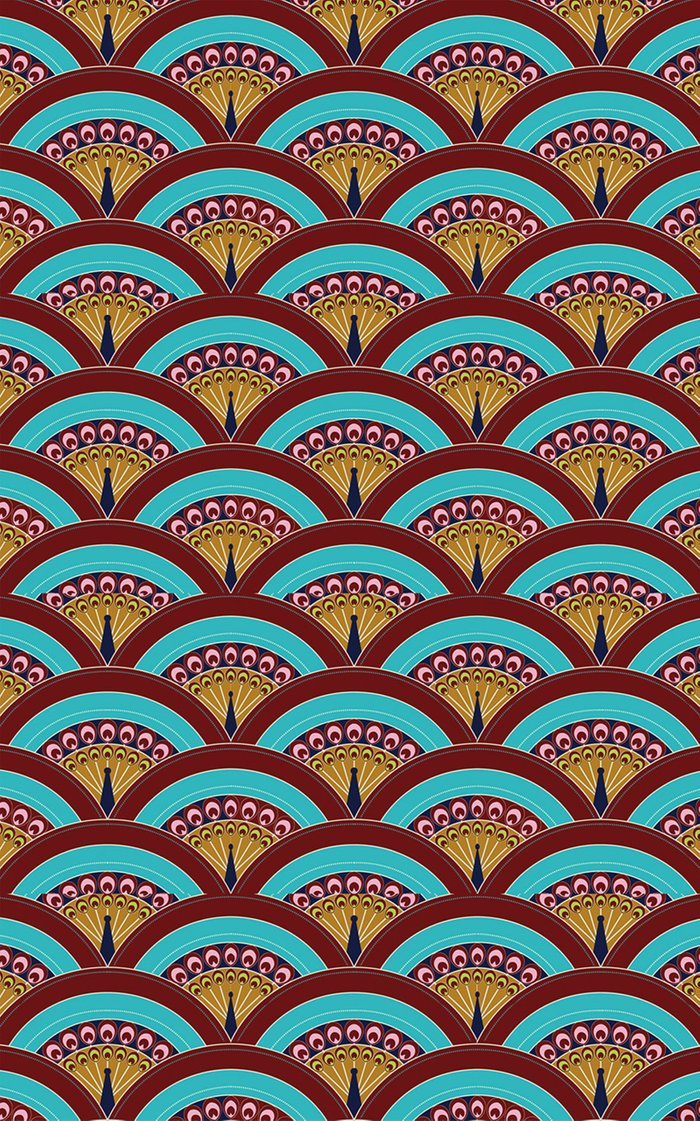 Peacock Design Printed Tablecloth