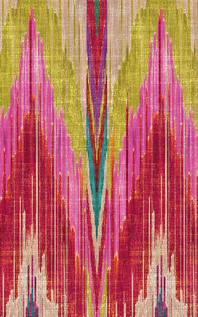 Ikat Design Printed Tablecloth