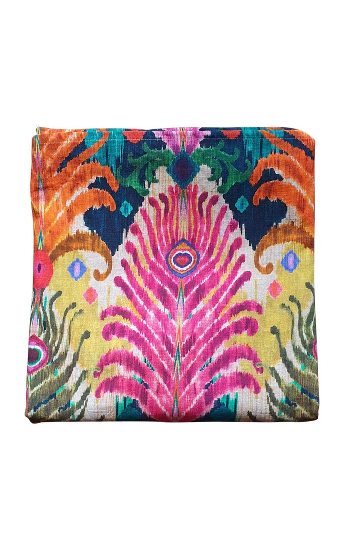 Peacock Feather Design Printed Tablecloth