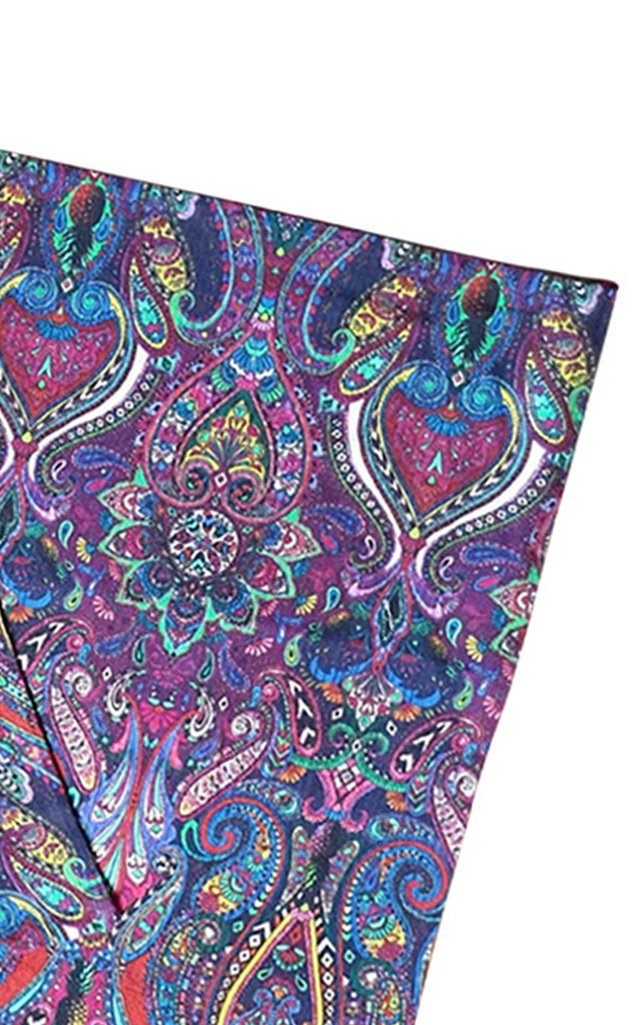 Set Of 4 Paisley Design Printed Placemat