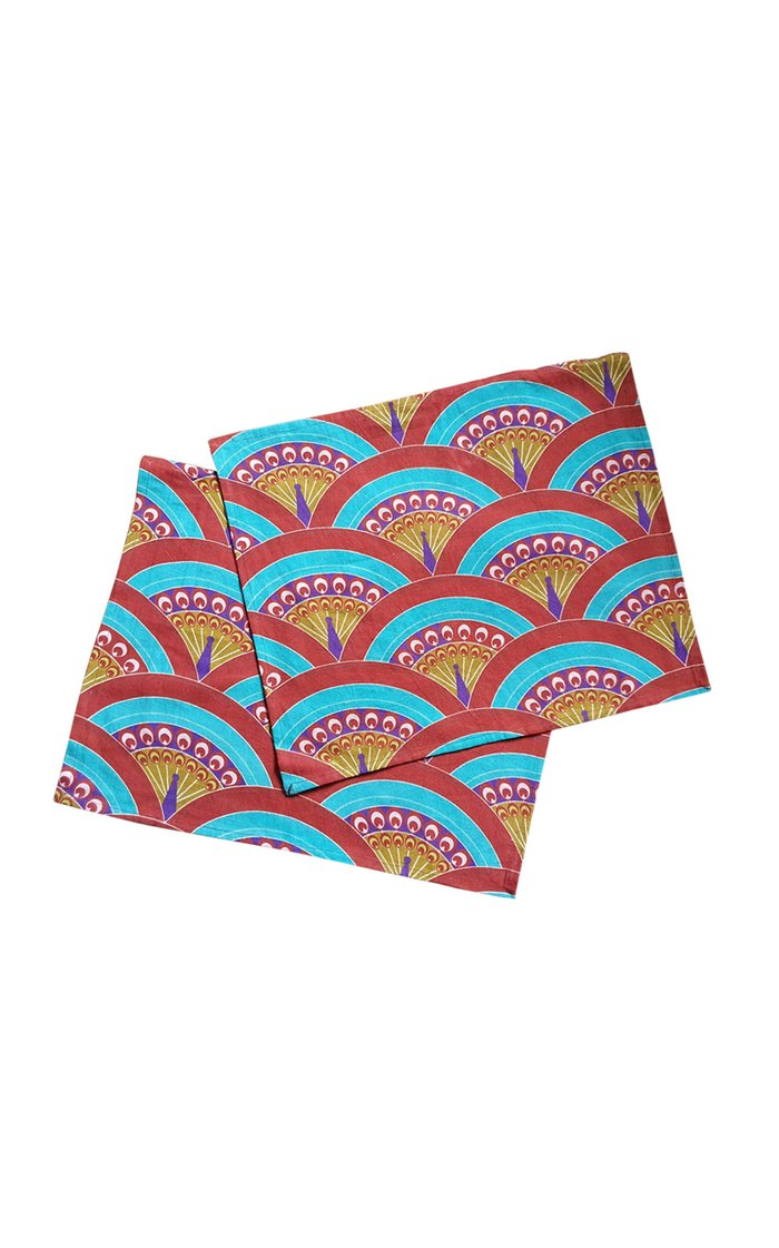 Set Of 4 Peacock Design Printed Placemat