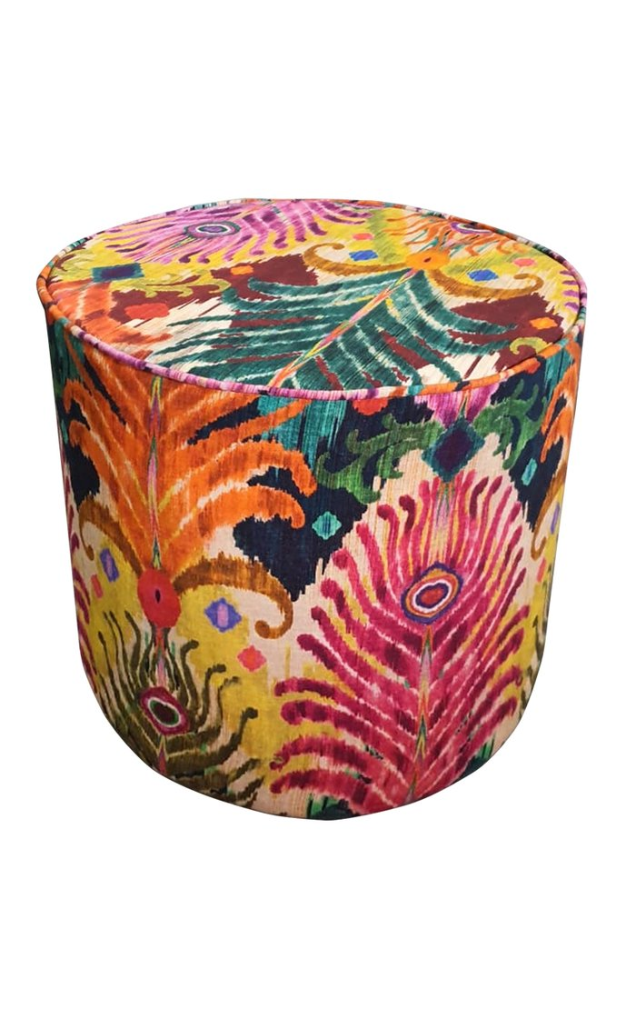 Peacock Feather Pouf