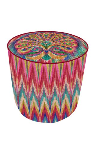 Oriental Feather Pouf