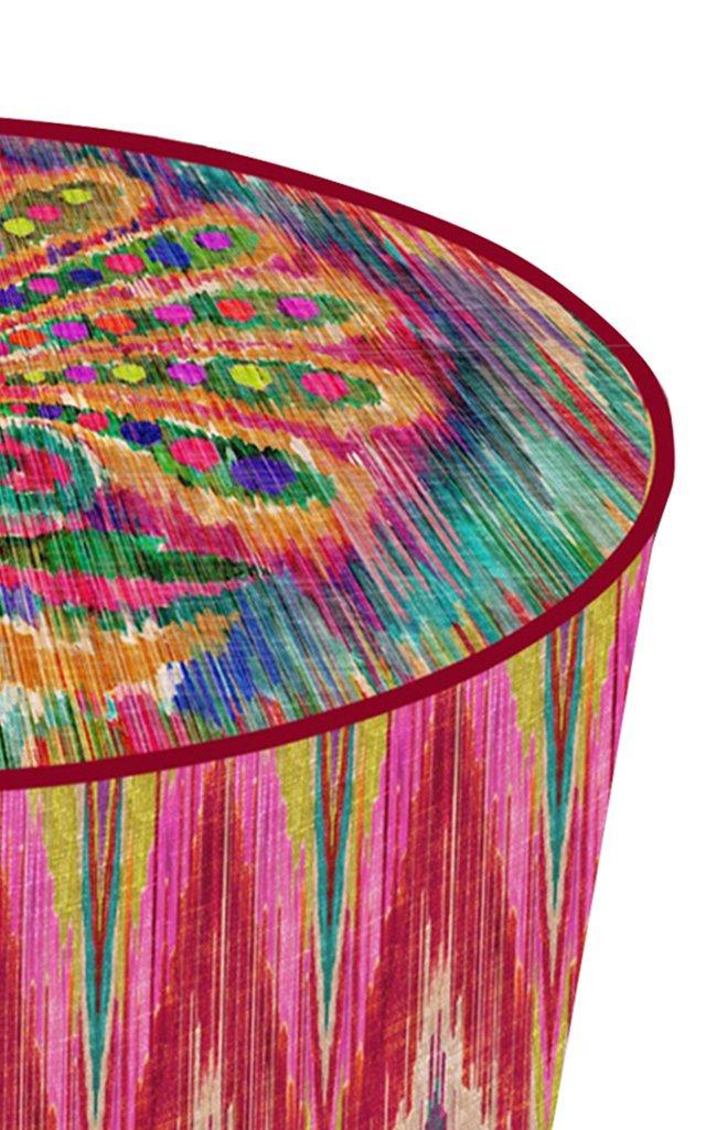 Oriental Feather Pouf