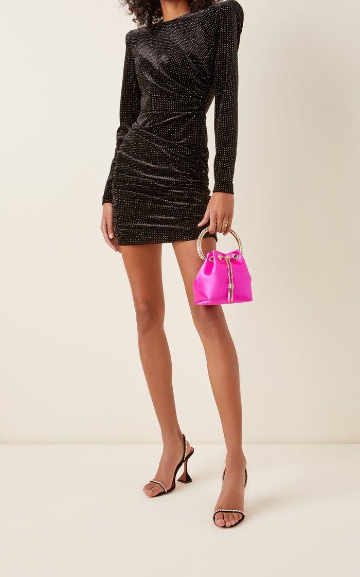 Bon Bon Embellished Satin Top Handle Bag