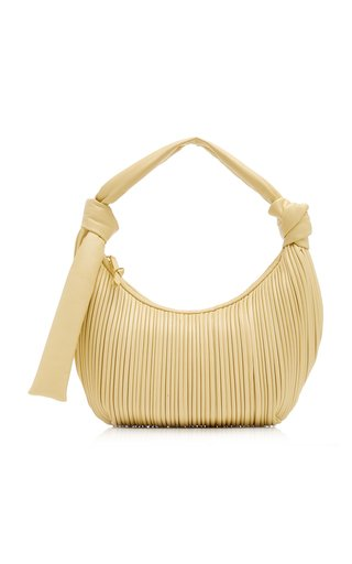 Neptune Pleated Leather Shoulder Bag