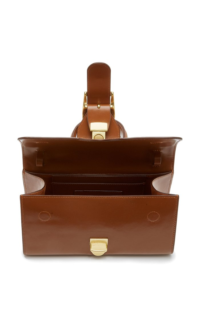 Small Classic Leather Top Handle Bag