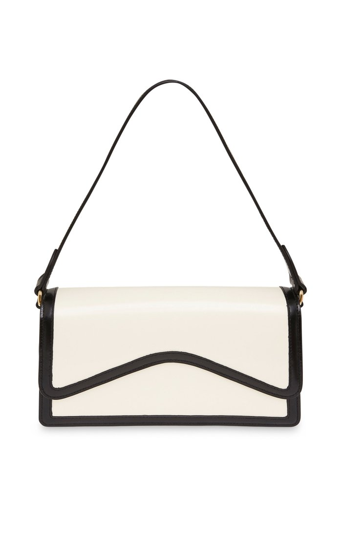 Baguette Two-Tone Leather Shoulder Bag