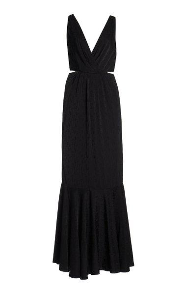 Exclusive Cutout Silk-Jacquard Gown
