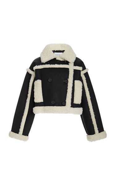 Kristy Shearling-Trimmed Faux Suede Jacket