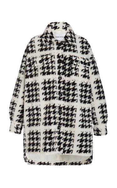 Sabi Houndstooth Faux Fur Jacket