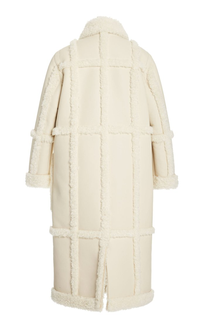 Patrice Faux Shearling and Suede Coat
