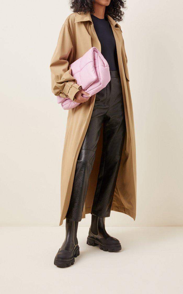 Wanda Oversized Padded Faux Leather Clutch