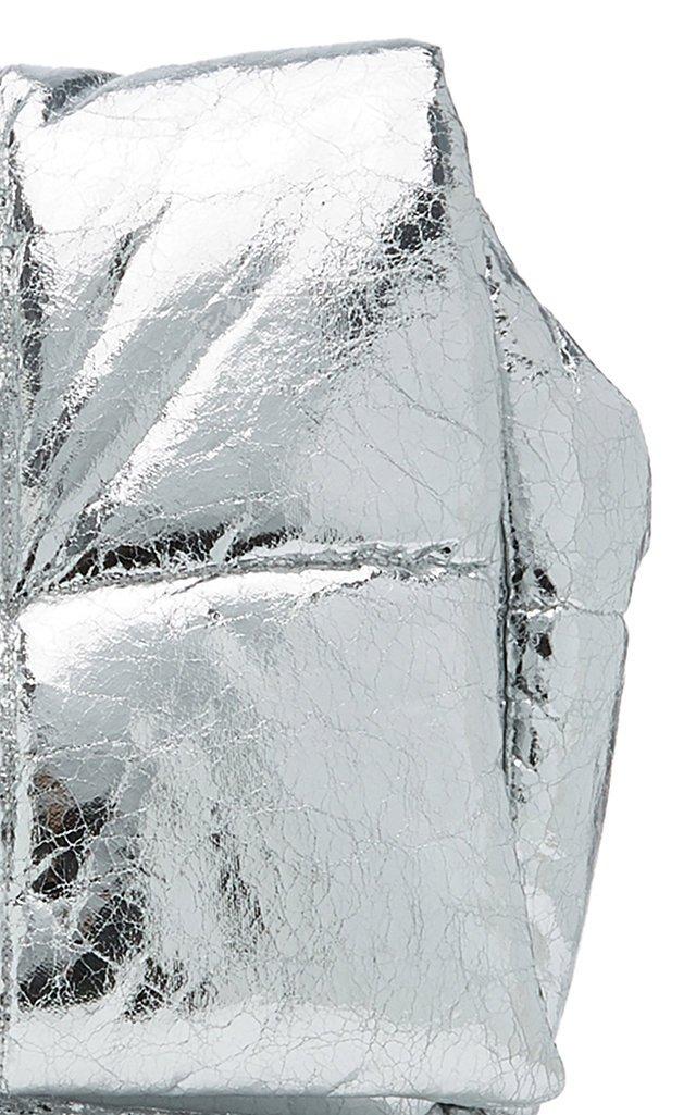 Wanda Metallic Padded Faux Leather Clutch