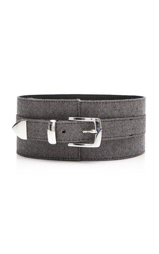 Specialorder-Wide Herringbone Leather Belt-PG