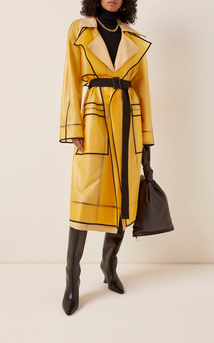 Belted PVC Trench Coat