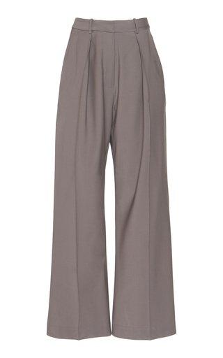 Wool Wide-Leg Pants