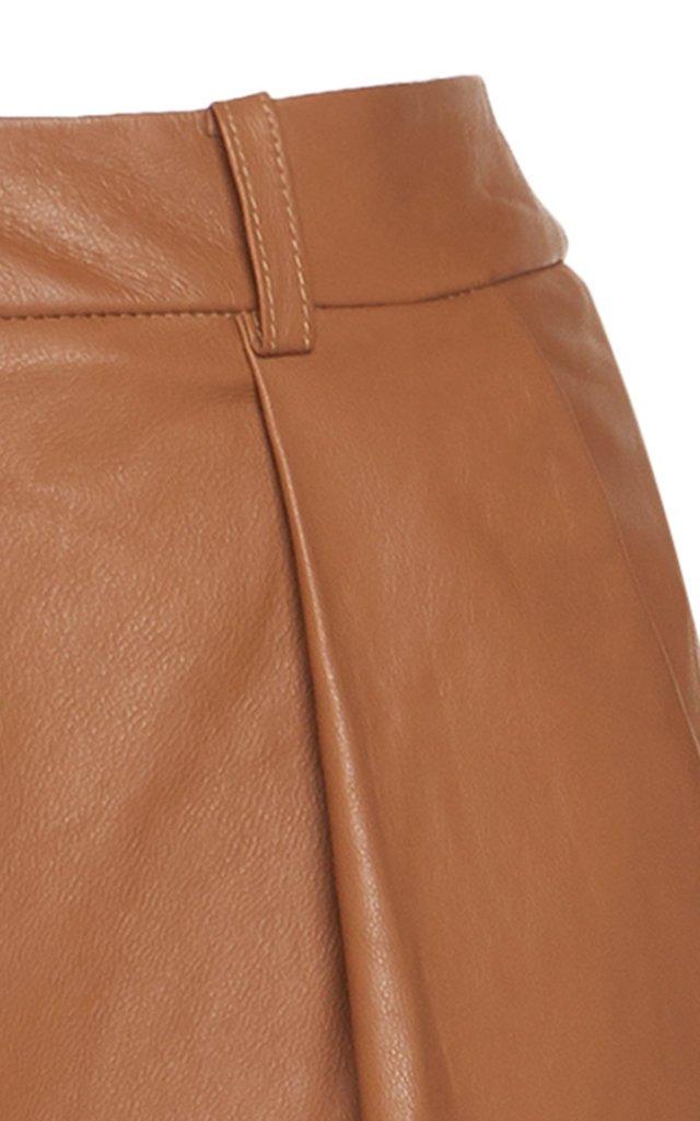 Leather Wide-Leg Pants