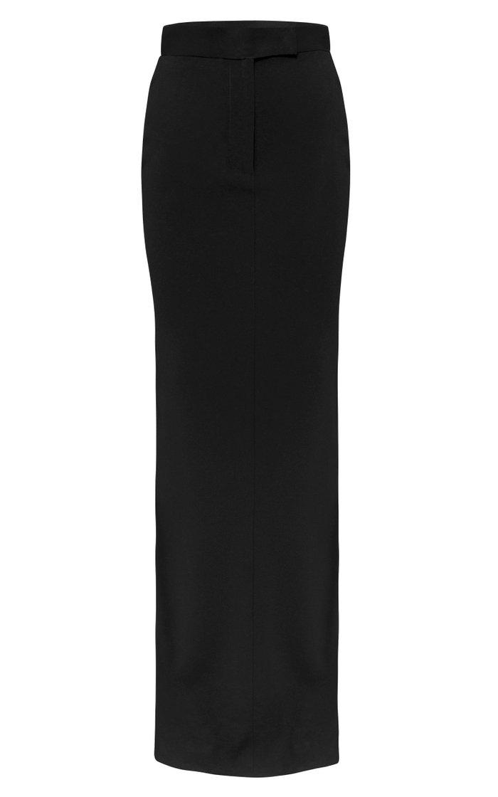 Gabriel Satin Crepe Maxi Column Skirt