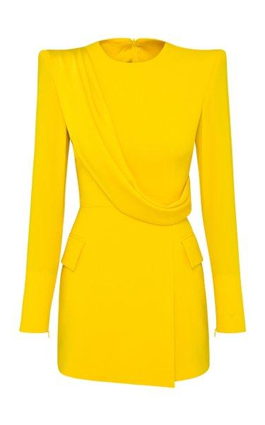 Rae Draped-Detailed Satin Crepe Mini Dress