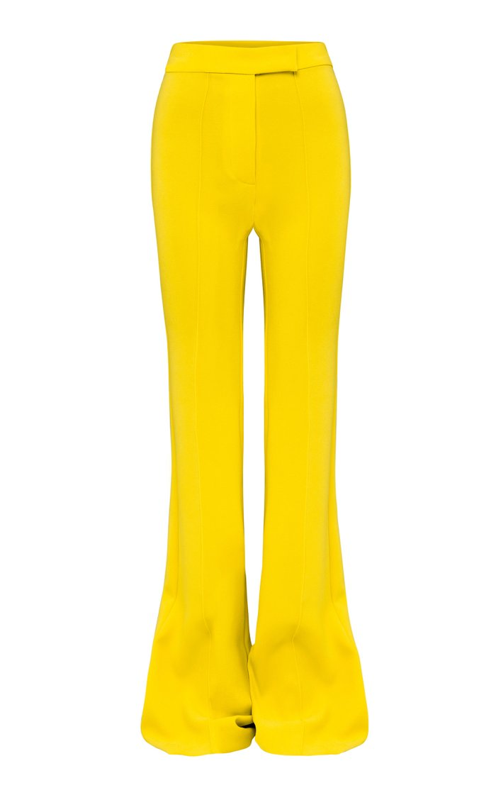 Rene Stretch Crepe Flared Trousers