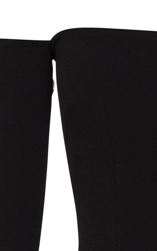 Tate Stretch Crepe Off-The-Shoulder Midi Dress