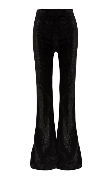 Jordan Glittered Cotton-Blend Corduroy Flared Trousers