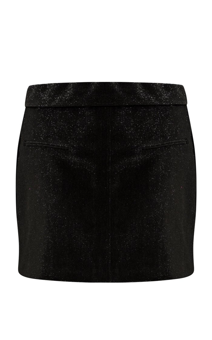 Harlyn Glittered Cotton-Blend Corduroy Mini Skirt