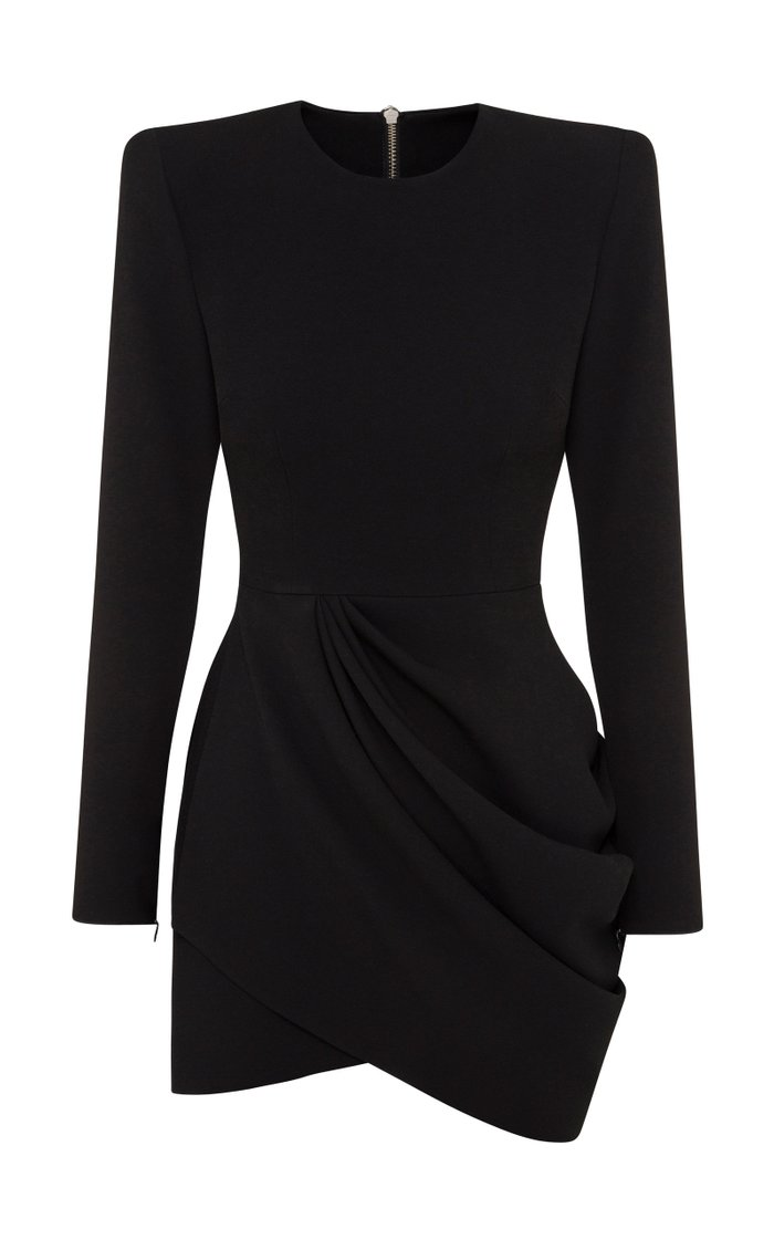 Chester Drape-Detailed Stretch Crepe Mini Dress
