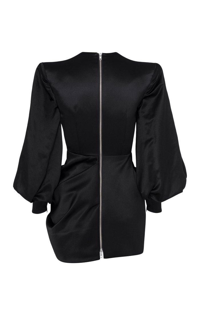 Corine Drape-Detailed Cotton-Silk Mini Dress