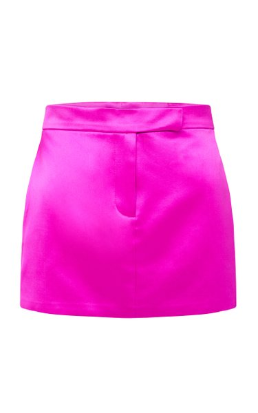 Jacks Cotton-Silk Mini Skirt
